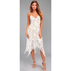 Lulu's | One Wish Lace Midi Dress